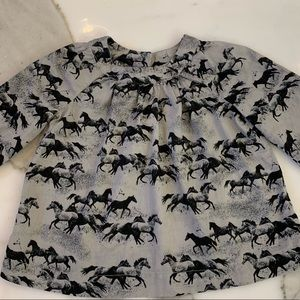 Wild horses print Blouse for girls 3T by Gap